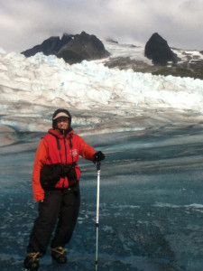 Hiking the Juneau Ice Field.