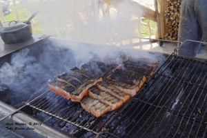 BBQ Taku River Salmon Taku Lodge 5-16-15 Low Res